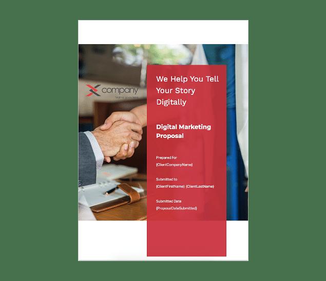 Digital Marketing Proposal Template Fresh Proposals