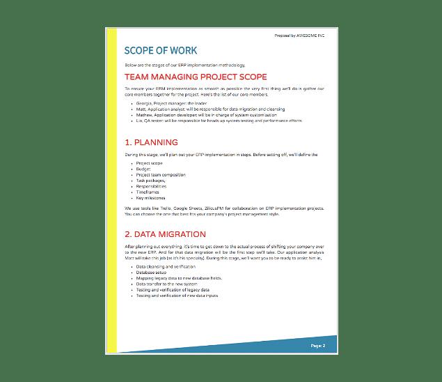Erp Implementation Proposal Template Fresh Proposals